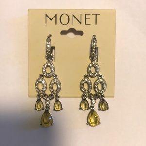 Monet stone earrings